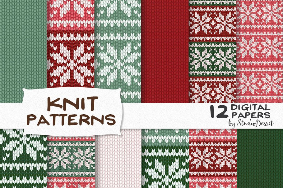 Ugly Christmas Sweaters Patterns.Ugly Christmas Sweater Patterns Textures Creative Market