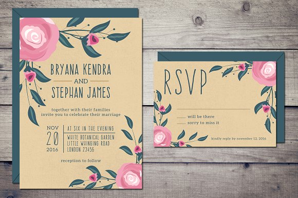 boho wedding invitation rsvp invitations - Wedding Invitations Rsvp
