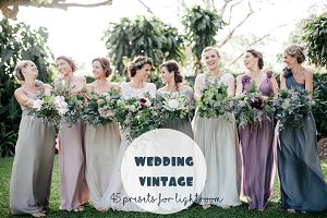 Presets Lightroom Wedding Vintage 45