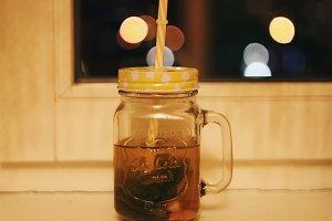 Aromatic mug with tea