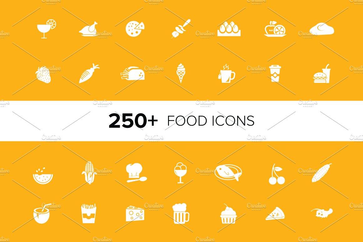 Cassandra cappello graphic design toronto - 250 Food Vector Icons Pack