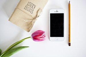 iphone 5 with tulip - photo