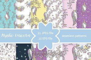 №212 Unicorn Rainbow pattern