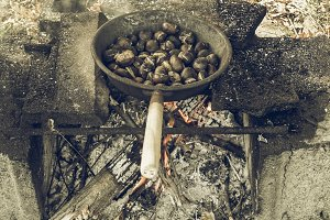 Barbecue picture vintage desaturated