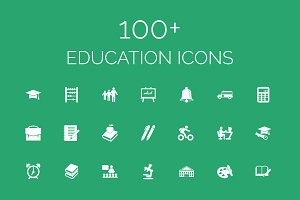 100+ Education Vector Icons Pack