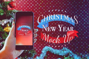 Christmas & New Year Mock-Up