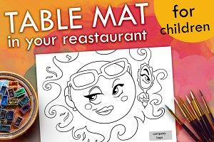 Children Table Mat