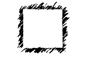 Monochrome abstract frame vector