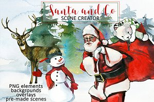 Santa & Co Christmas Clipart Set