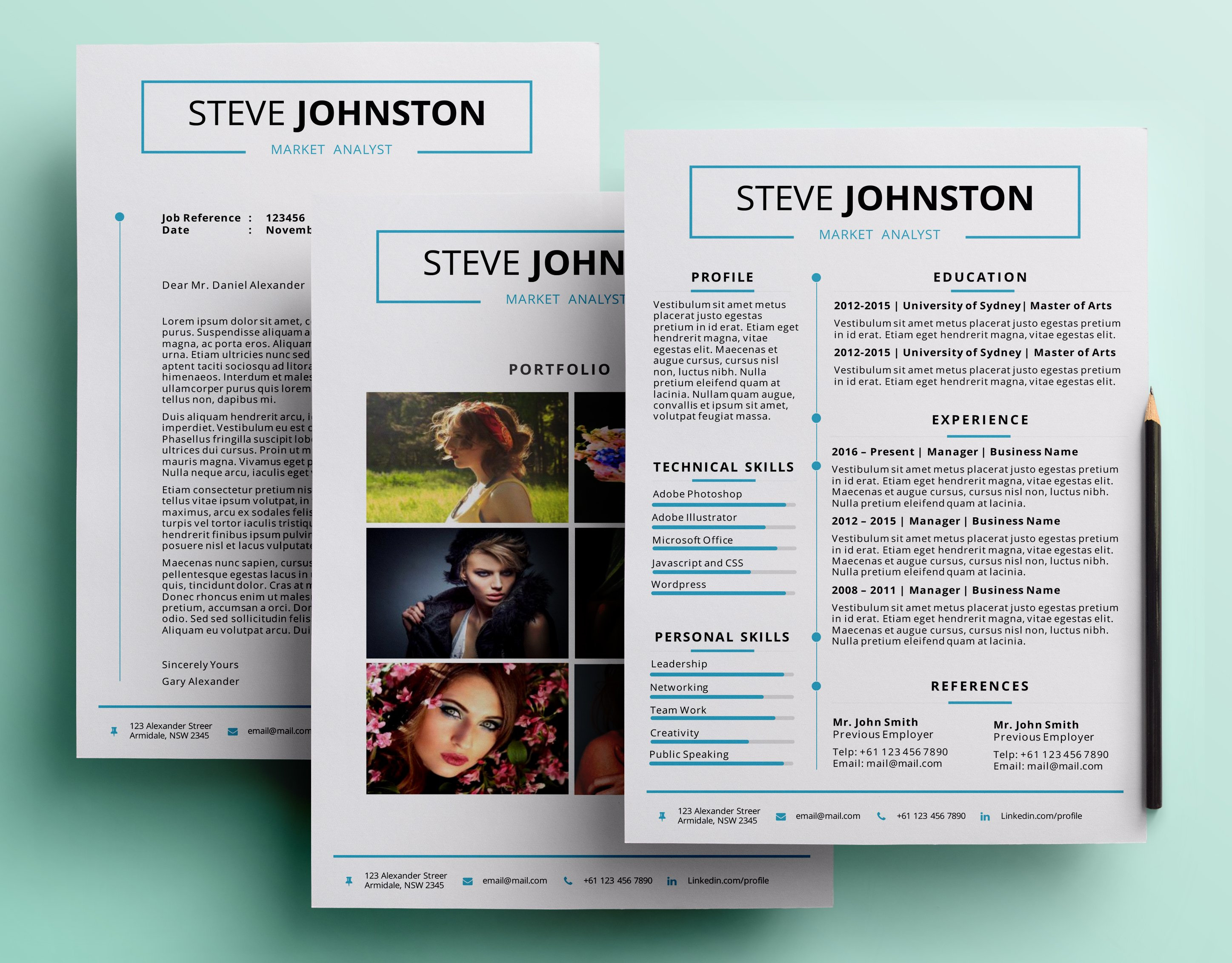 Printable pptx resume pack ~ Resume Templates ~ Creative Market