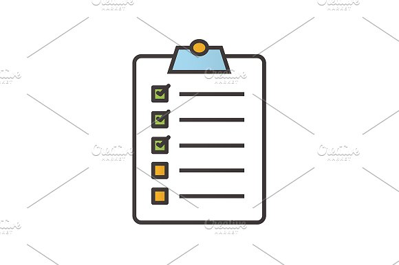 Clipboard checklist icon. Vector - Icons