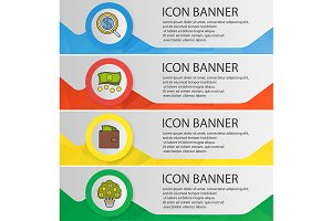 Banking and finance banners. Vector