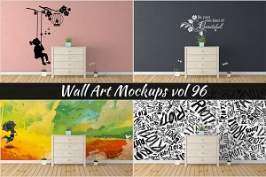 Wall Mockup - Sticker Mockup Vol 96