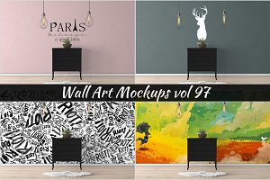 Wall Mockup - Sticker Mockup Vol 97