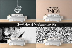 Wall Mockup - Sticker Mockup Vol 98