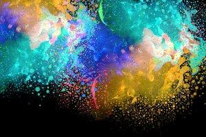 Acrylic colors drops