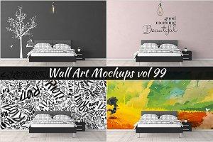 Wall Mockup - Sticker Mockup Vol 99