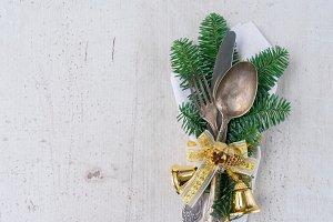 Christmas dinner cutlery