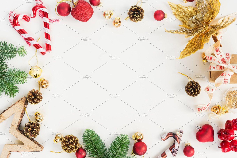 Christmas Flat Lay Styled Scene Holiday Photos