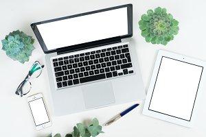 Styled desktop scene
