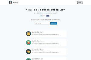 TheList - One Page Website Template