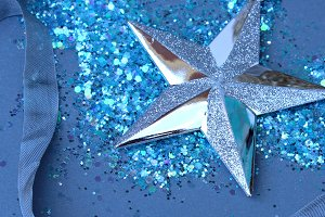 Holiday Star-silver and blue