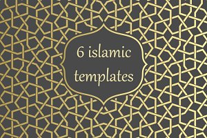 Islamic Arabic Gold pattern template