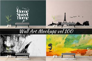 Wall Mockup - Sticker Mockup Vol 100