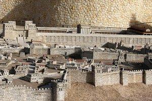 Model of the ancient Jerusalem.