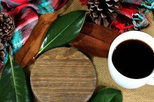 Christmas coffee-product mock up