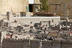 Model of the ancient Jerusalem.
