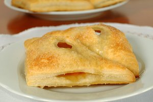 Homemade apricot pie