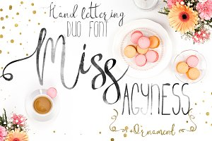 Miss Agyness-DUO font+ornament