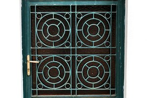 Metal Door Circles Motif