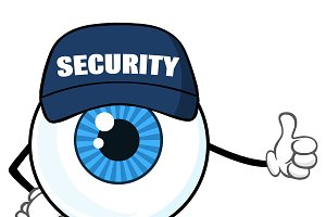 Blue Eyeball Security Guard