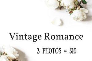 Vintage romance desktop stock photos