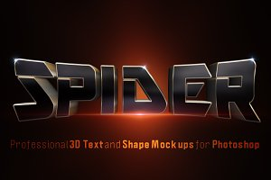 3D Movie Titles Photoshop Mock-Ups