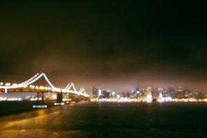 San Fran Skyline Night Bokeh