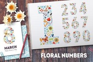 Floral numbers set