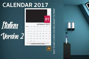 Italian Wall Calendar 2017 Version 2