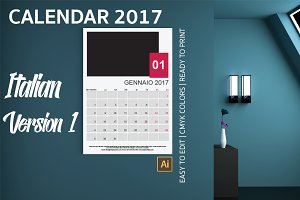 Italian Wall Calendar 2017 Version 1