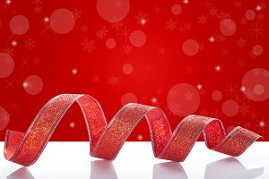 Christmas red ribbon