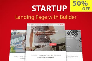 Startup Landing With Page Builder