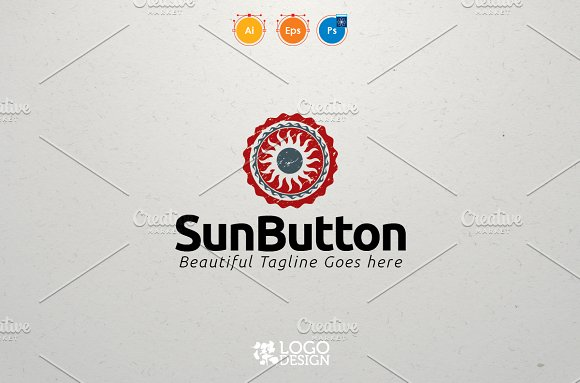 Sun Button in Logo Templates - product preview 1
