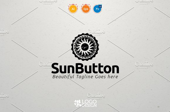 Sun Button in Logo Templates - product preview 2