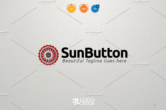 Sun Button in Logo Templates - product preview 3