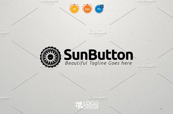 Sun Button in Logo Templates - product preview 4