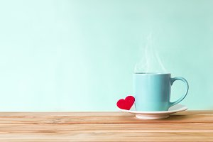 Love Warm Drink with red heart