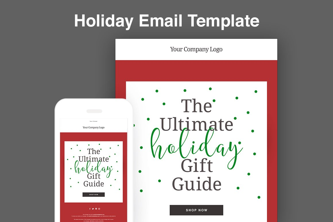 Holiday Email Template ~ Email Templates ~ Creative Market