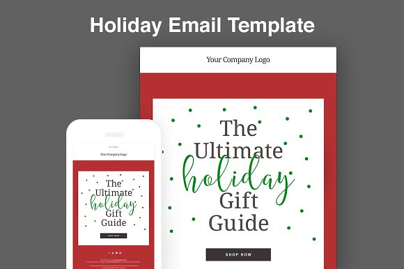 holiday email template email templates creative market